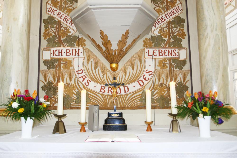Kirche Zschoppach Altar