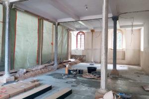 Baustelle Winterkirche Polditz