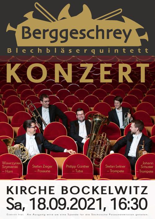 Plakat Konzert Berggeschrey 18.09.2021 Bockelwitz